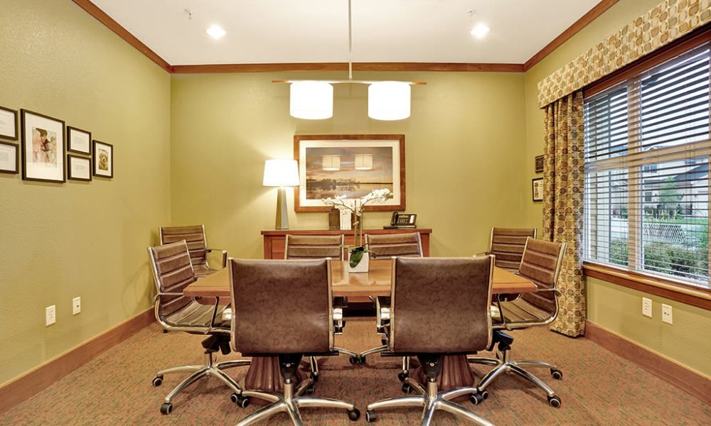 Meeting room at Seven Lakes Memory Care in Loveland, Colorado