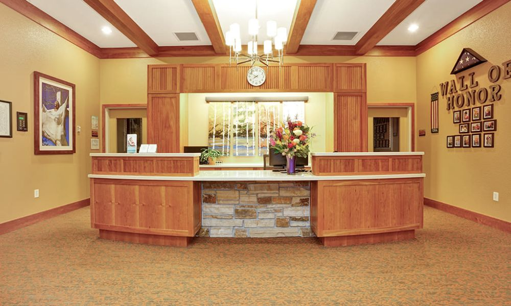 Help desk at Seven Lakes Memory Care in Loveland, Colorado