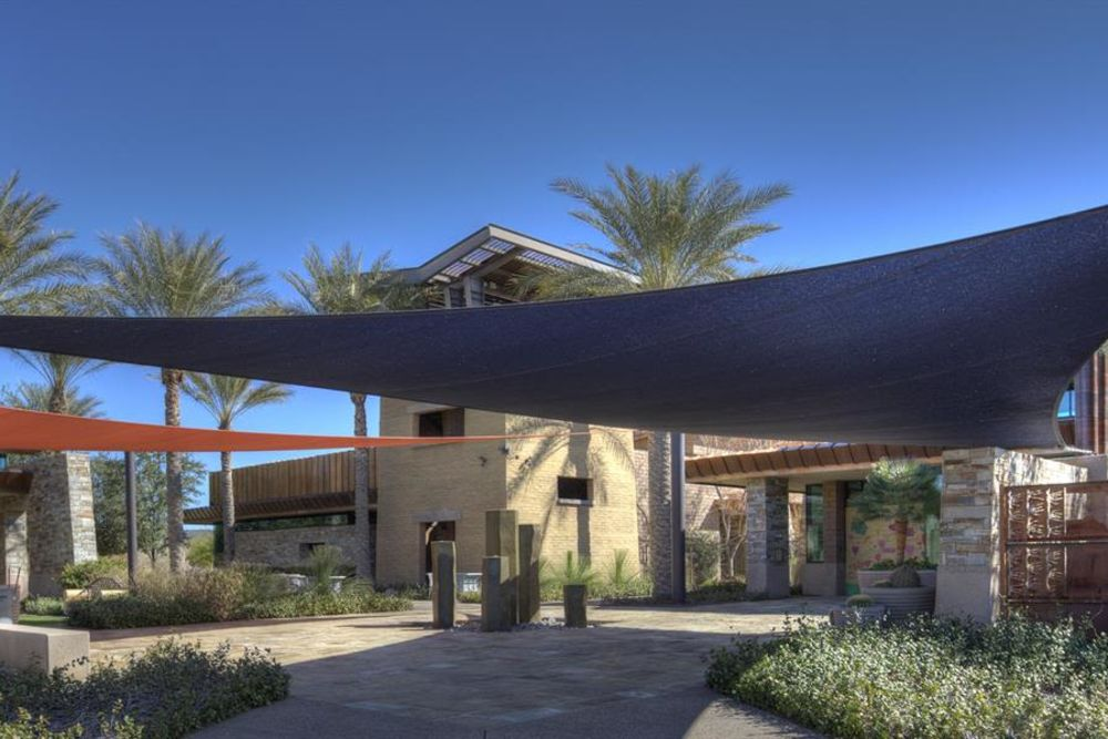 Exterior of the clubhouse at Vistancia in Peoria, Arizona