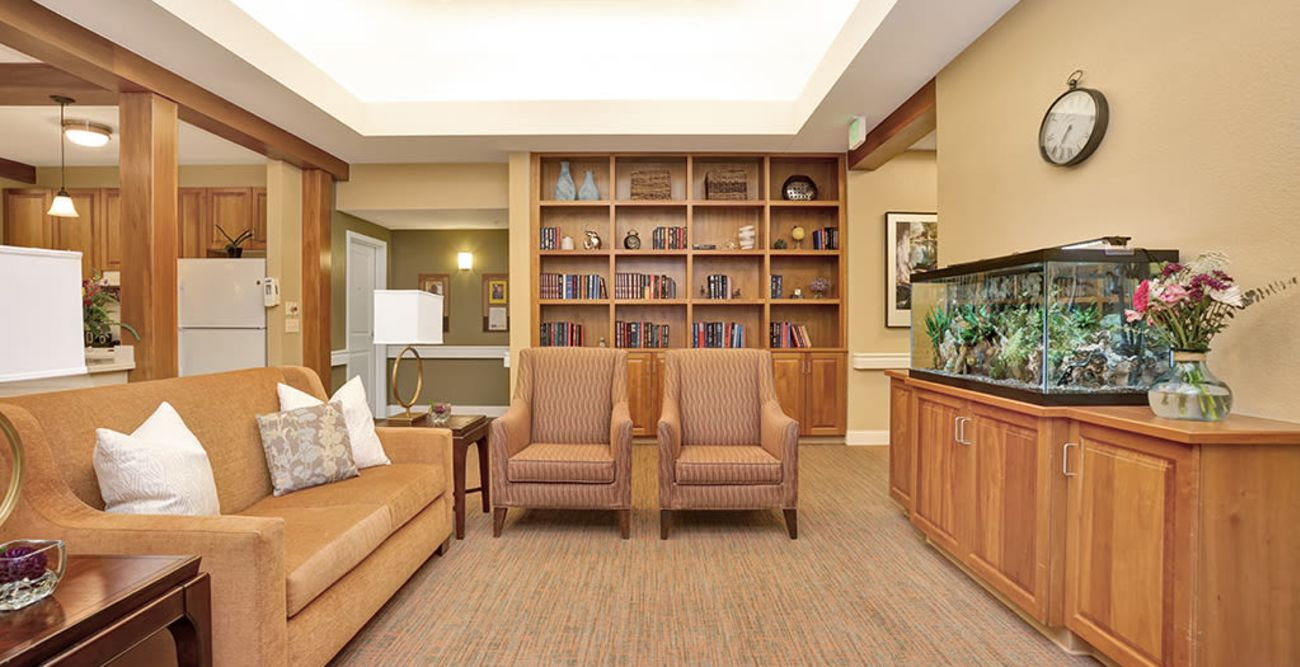 Common living room at Seven Lakes Memory Care in Loveland, Colorado