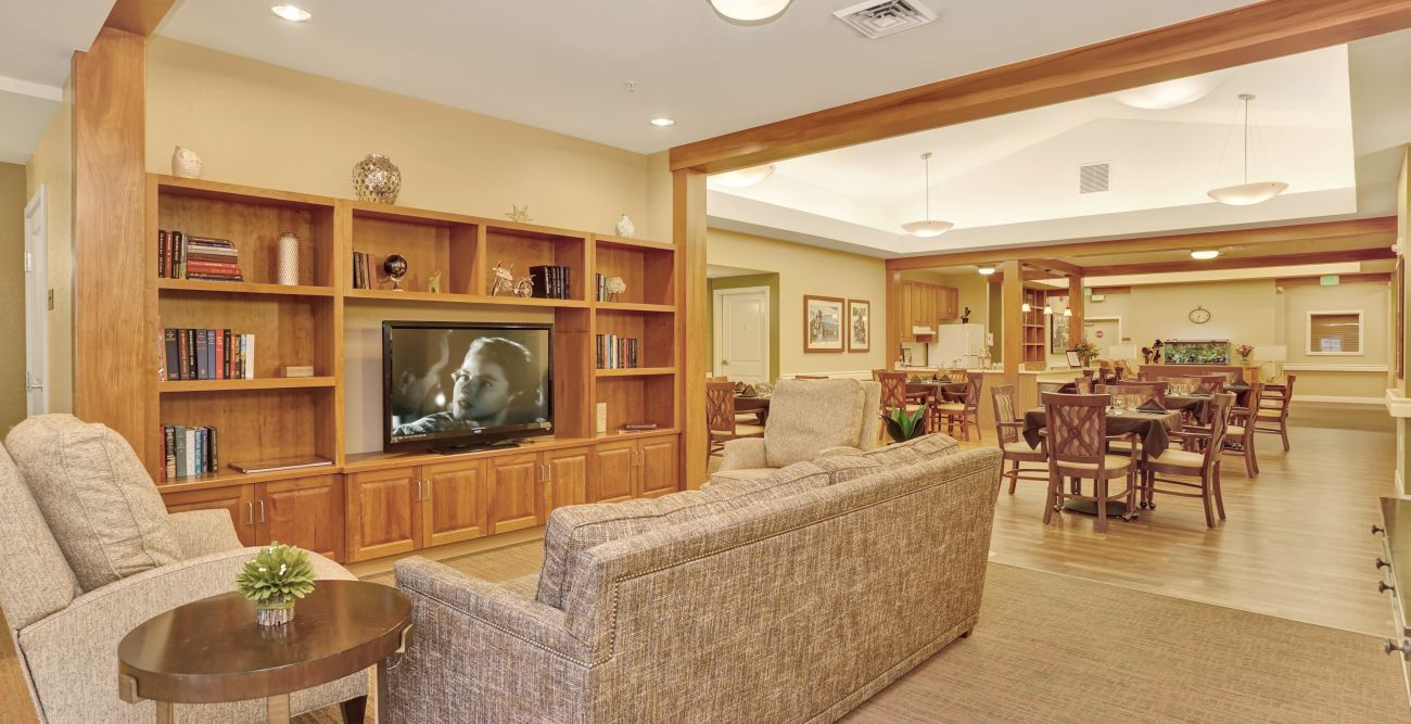Extended common area at Seven Lakes Memory Care in Loveland, Colorado