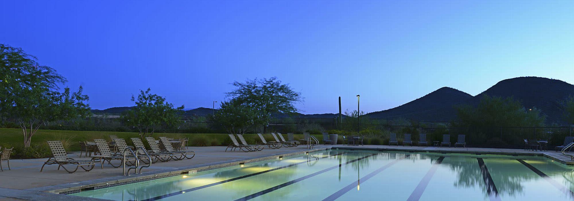 Lap swimming pool at BB Living at Vistancia in Peoria, Arizona