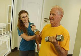 Fitness programs for Discovery Commons At Spring Creek senior living residents in Garland, Texas