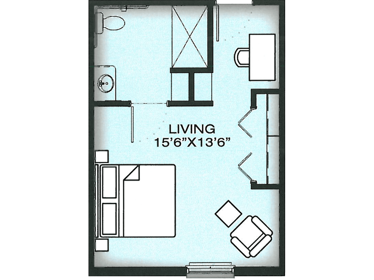 Daphne Memory Care floor plan at FountainBrook Assisted Living & Memory Support