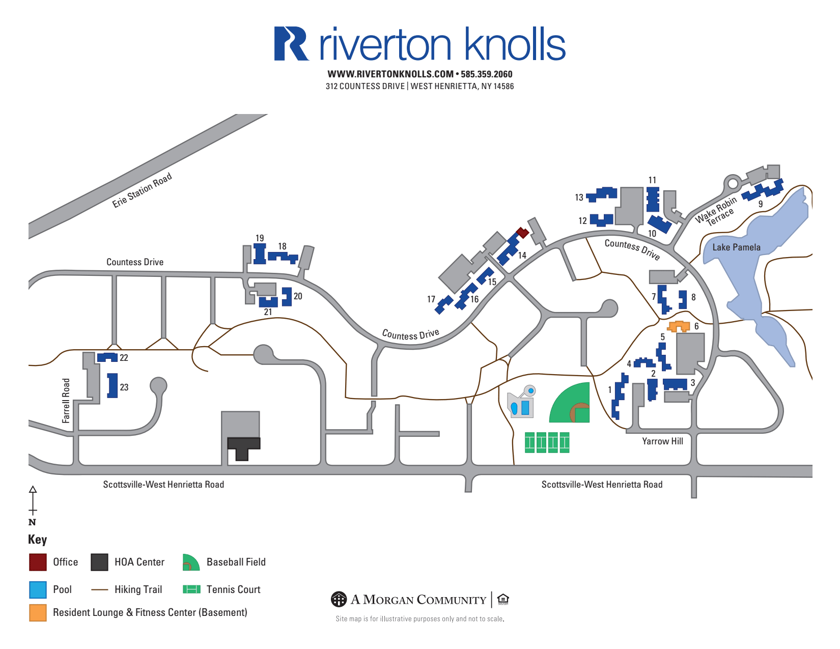 Directions to Riverton Knolls in West Henrietta New York
