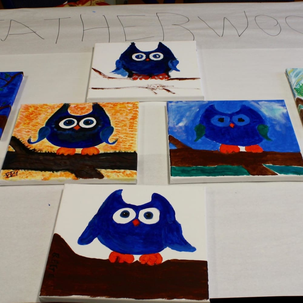 Hootie Cutie paintings made by the residents