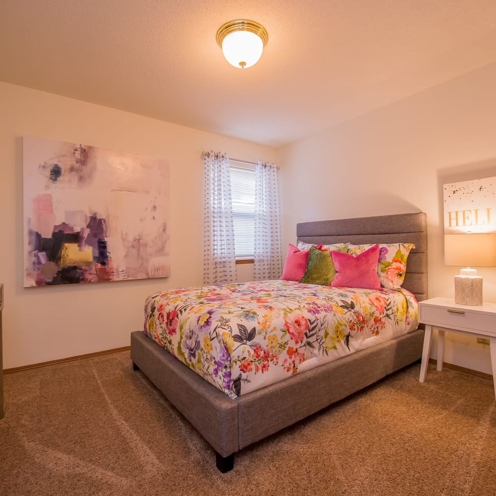 Bedroom at Huntington Park Apartments in Wichita, Kansas