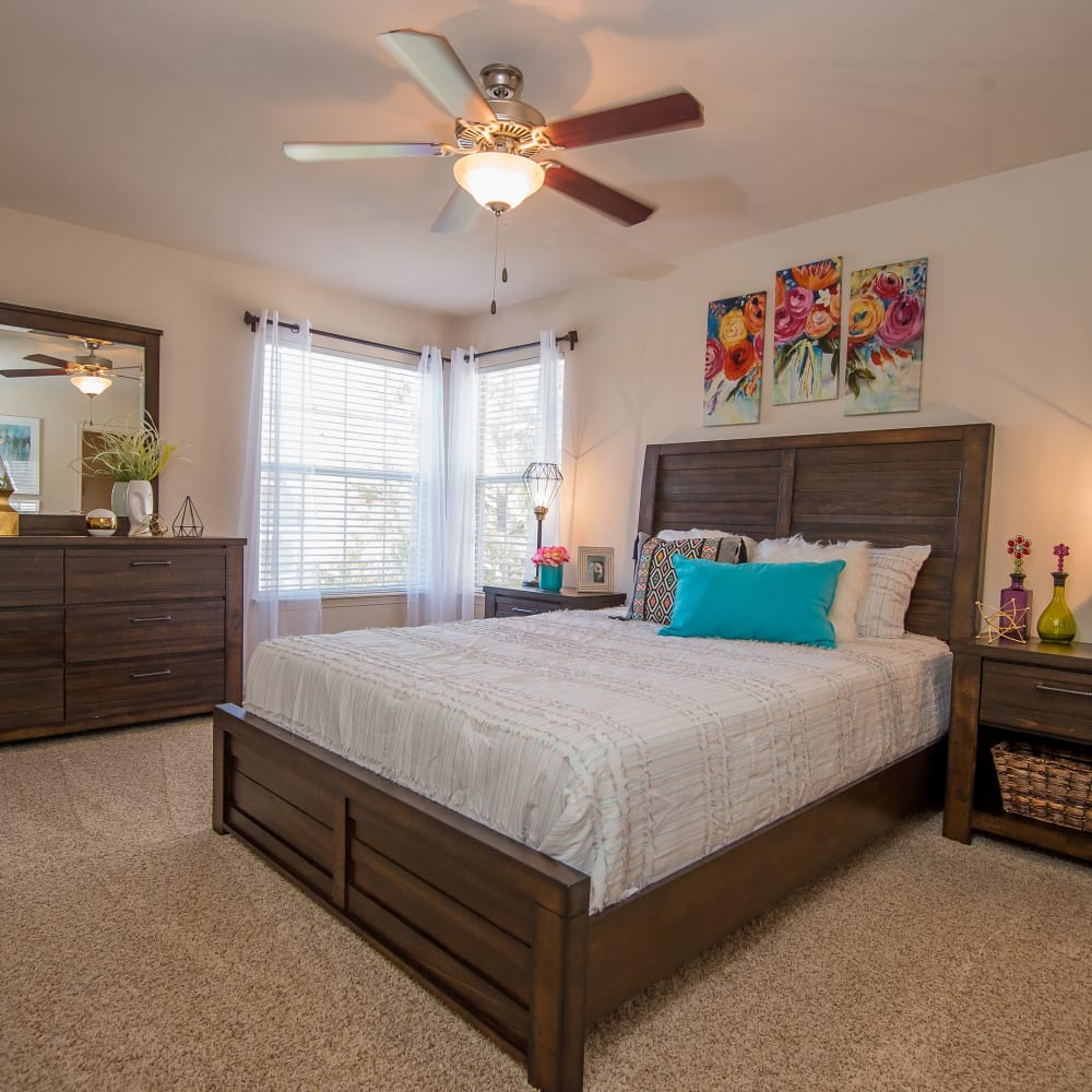 Bedroom at Villas at Aspen Park in Broken Arrow, Oklahoma
