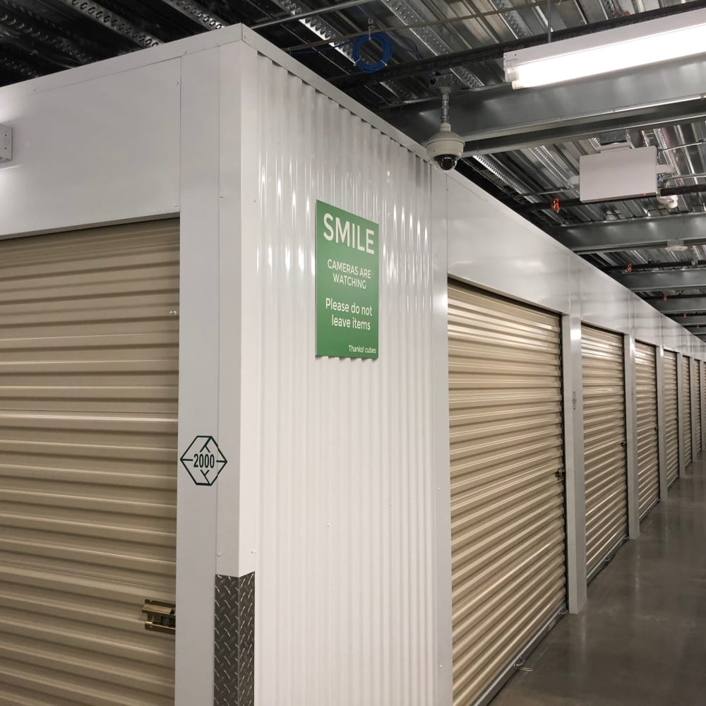 Interior storage units at Cubes Self Storage in Millcreek, Utah