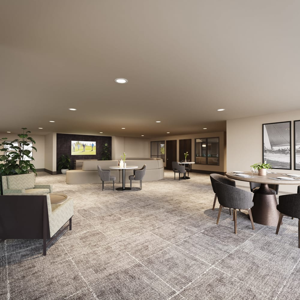 Clubhouse executive lounge at The District at Chandler in Chandler, Arizona