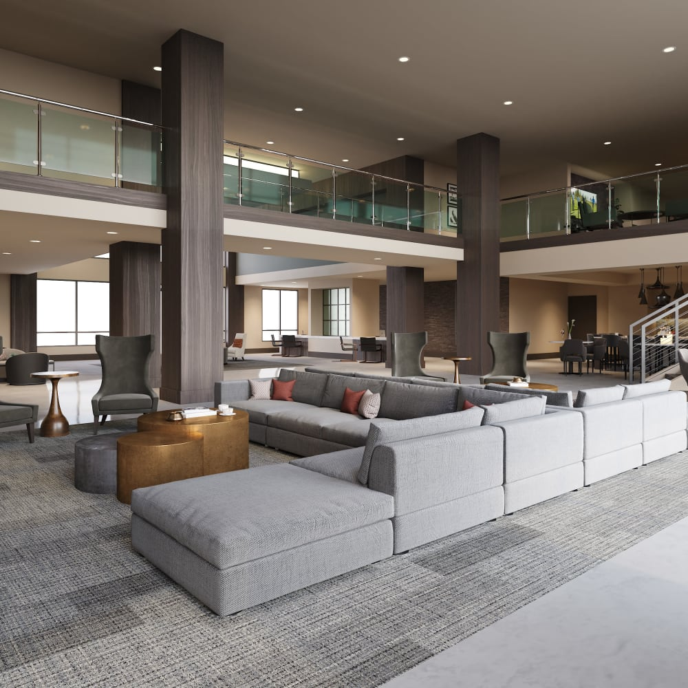 Clubhouse lounge at The District at Chandler in Chandler, Arizona