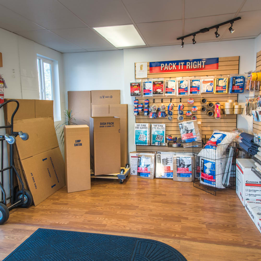 Inside the store at Sound Storage in Port Orchard, Washington