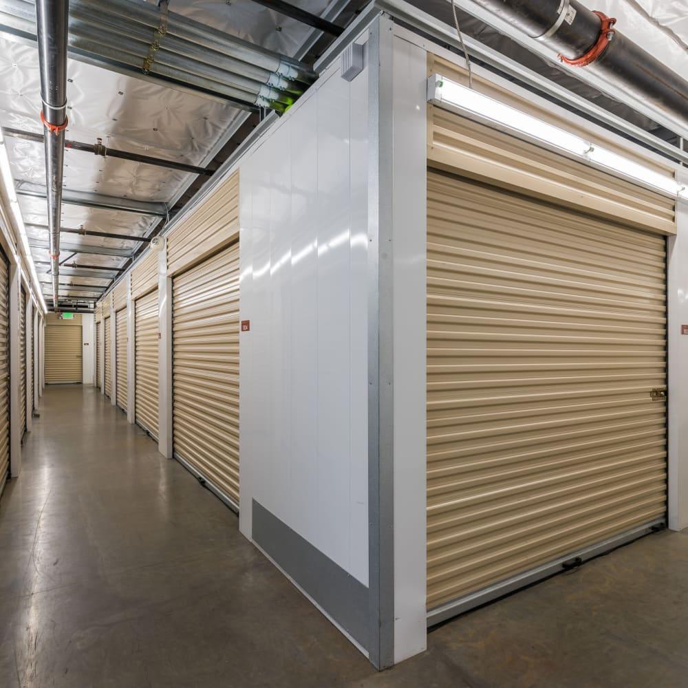 Interior storage units at Cubes Self Storage in Farmington, Utah