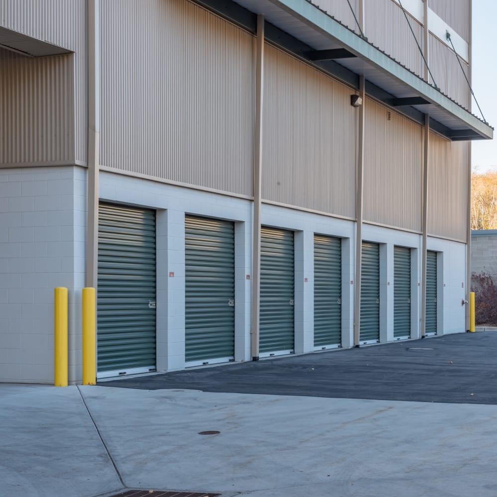 Drive-up  storage units at Cubes Self Storage in Millcreek, Utah