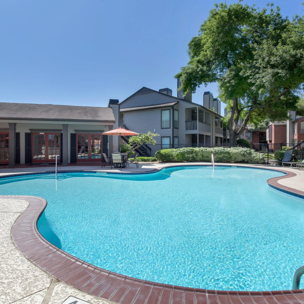 Large swimming pool at Finley West in Houston, Texas