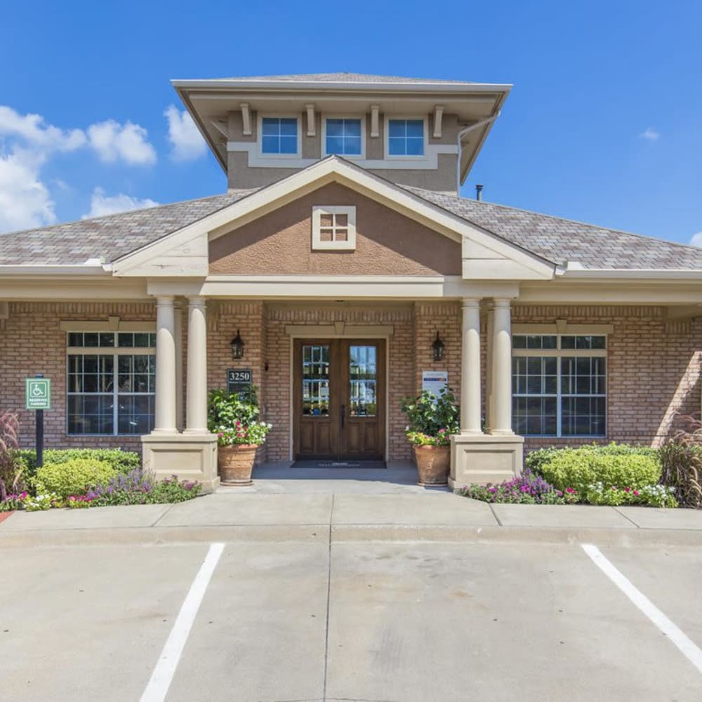 Contemporary exterior of clubhouse at Ranch at Hudson Xing in McKinney, Texas