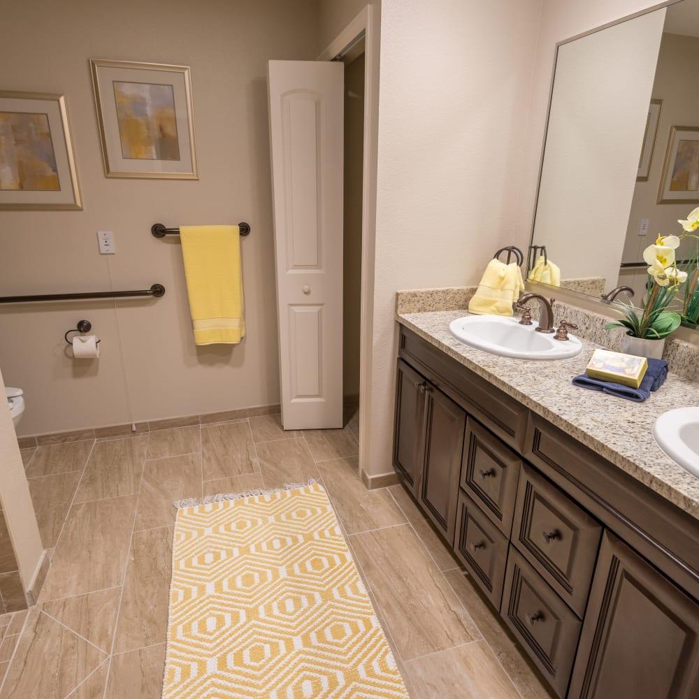 A companion bathroom at Inspired Living Ocoee in Ocoee, Florida