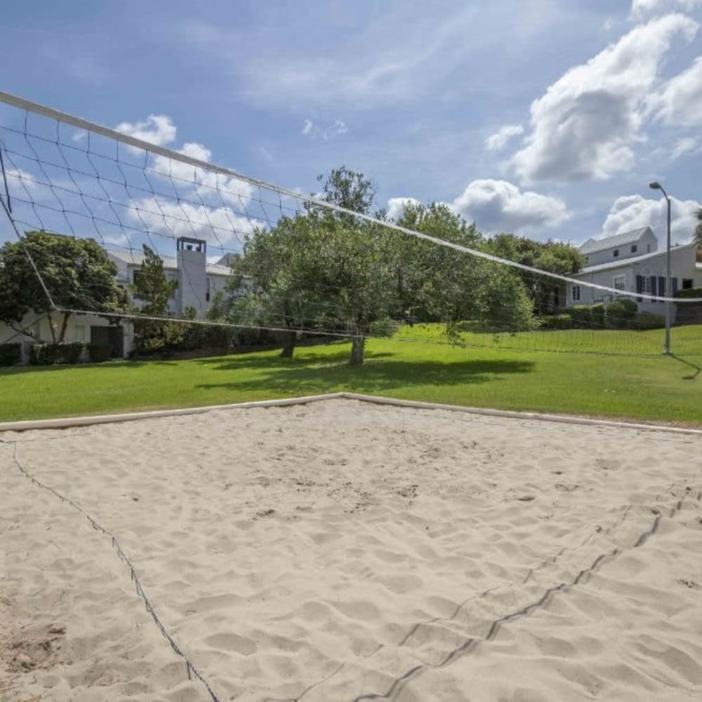 Sandy volleyball court at Royal Palms in San Antonio, Texas