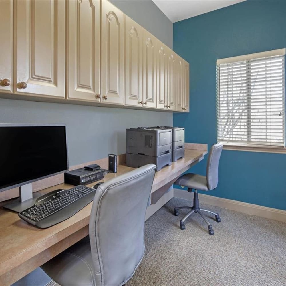 Resident business center at Royal Palms in San Antonio, Texas