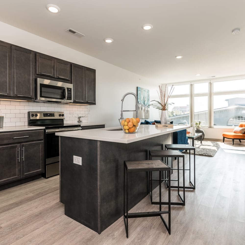 In-home features at Duveneck Square in Covington, Kentucky