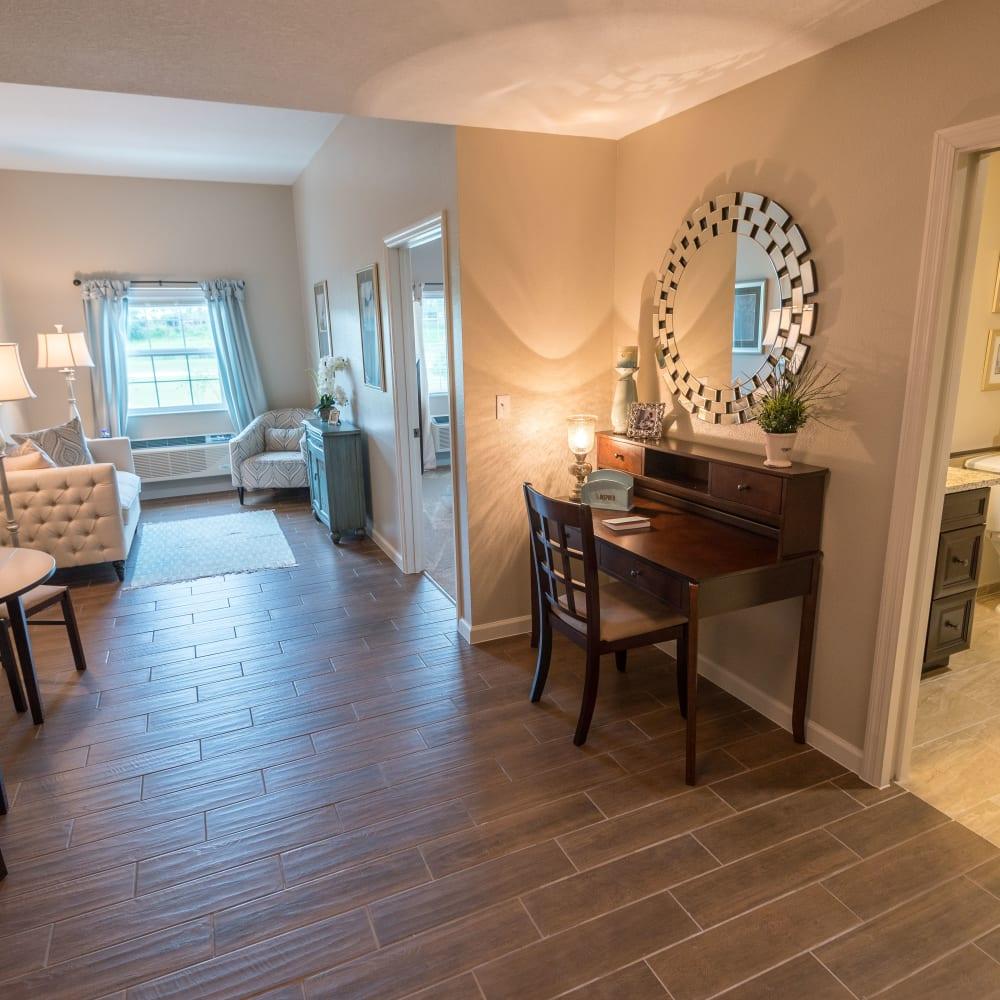 Enjoy a spacious apartment at Inspired Living Alpharetta in Alpharetta, Georgia