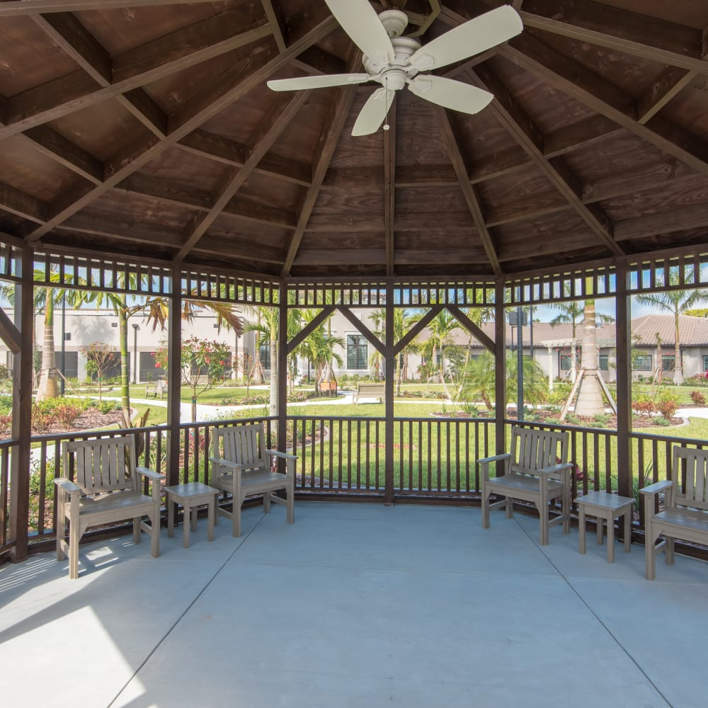 Gazebo at Inspired Living Bonita Springs in Bonita Springs, Florida.