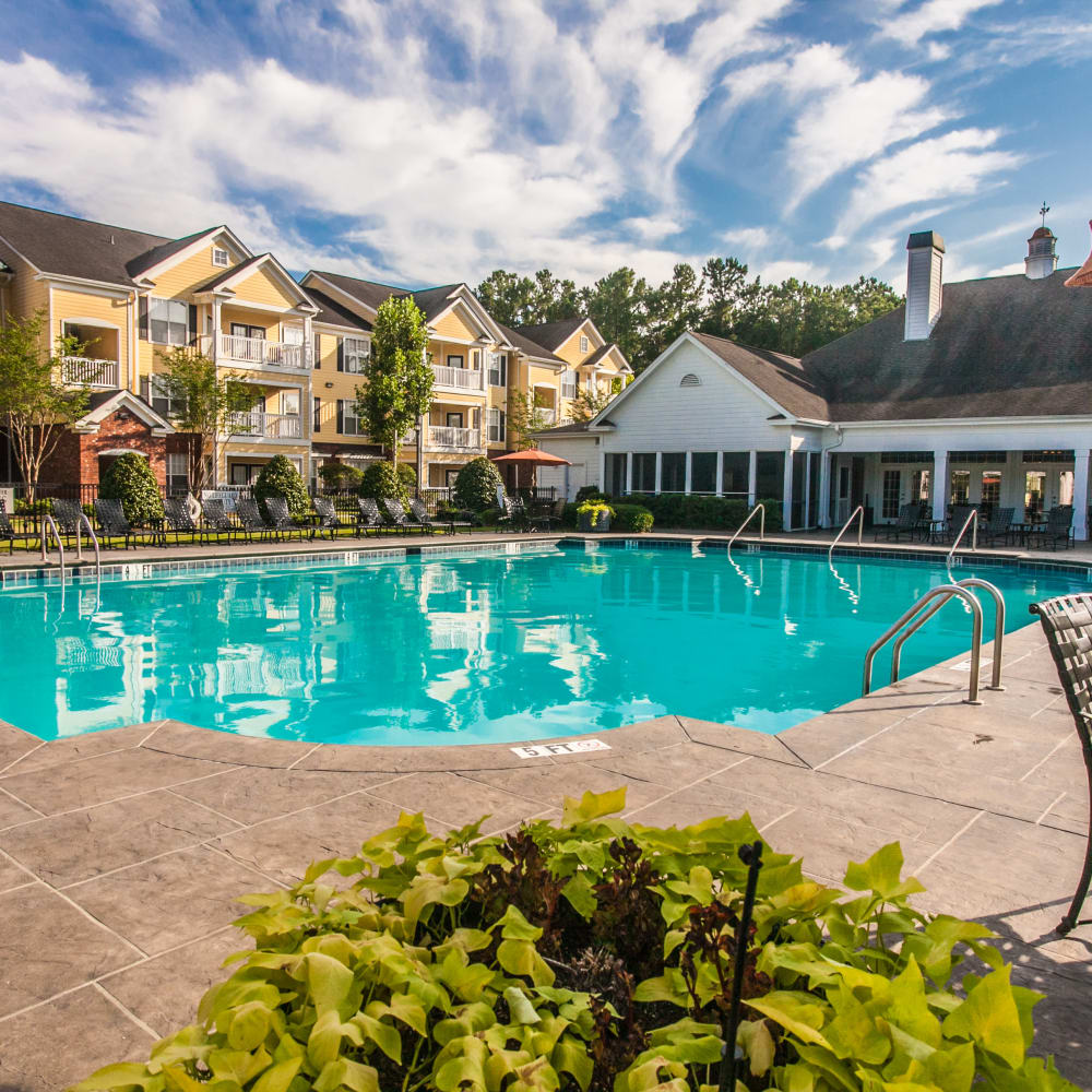 Resort-style swimming pool at Bryant at Summerville in Summerville, South Carolina