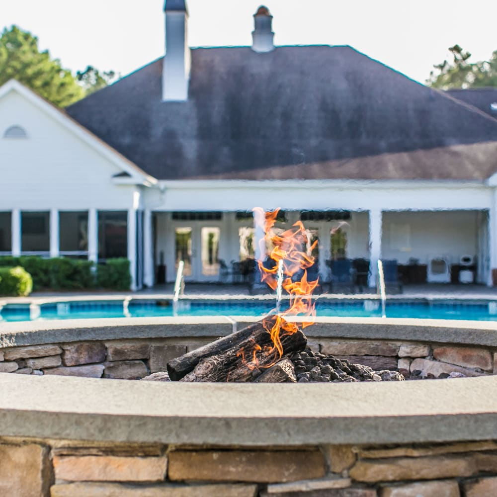 Outdoor fireplace at Bryant at Summerville in Summerville, South Carolina