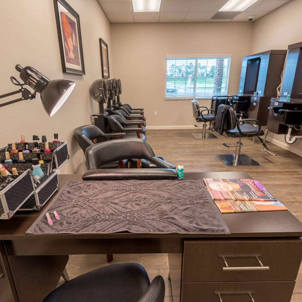 Resident salon at Inspired Living at Lakewood Ranch in Bradenton, Florida