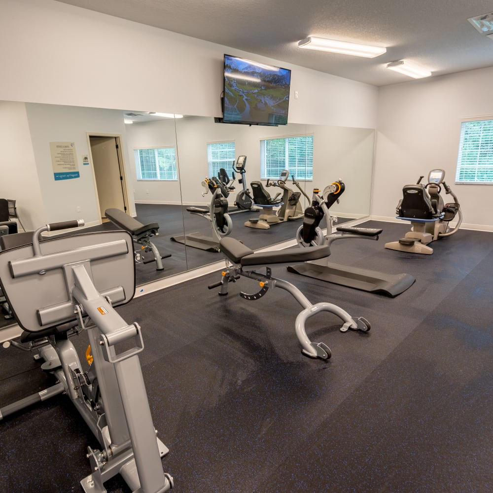 Resident gym at Inspired Living at Lakewood Ranch in Bradenton, Florida