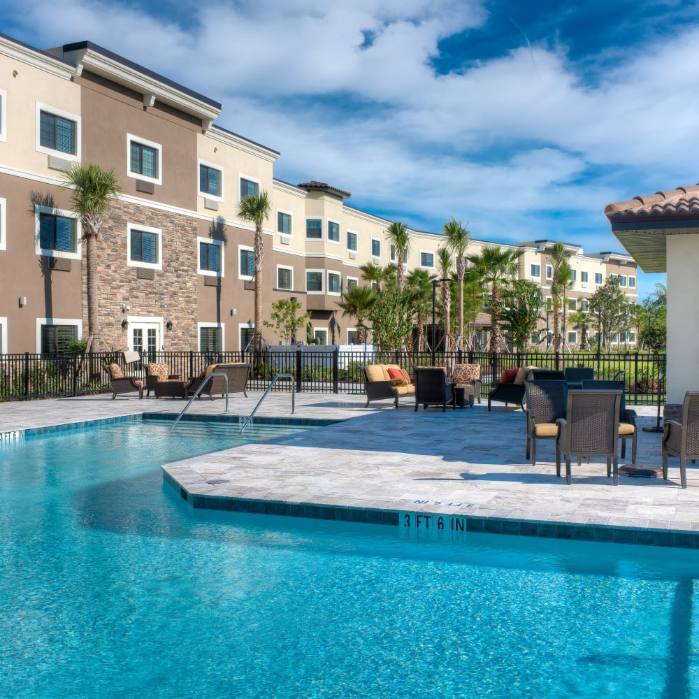 Onsite pool at Inspired Living at Lakewood Ranch in Bradenton, Florida