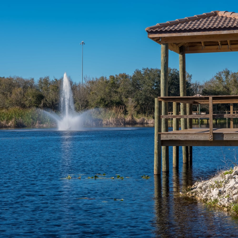 Gazebo at Inspired Living at Lakewood Ranch in Bradenton, Florida.