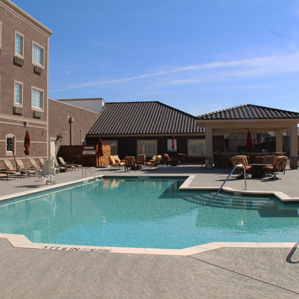 Onsite pool at Inspired Living in Lewisville, Texas