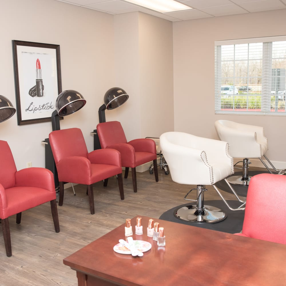 onsite hair salon at Inspired Living Sugar Land in Sugar Land, Texas.