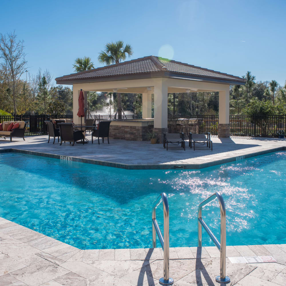 Sparkling swimming pool at Inspired Living at Ocoee in Ocoee, Florida.
