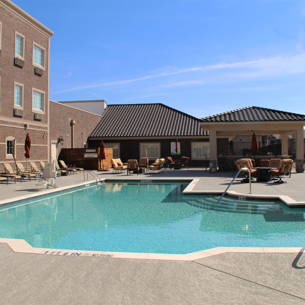 Onsite pool at Inspired Living Lewisville in Lewisville, Texas