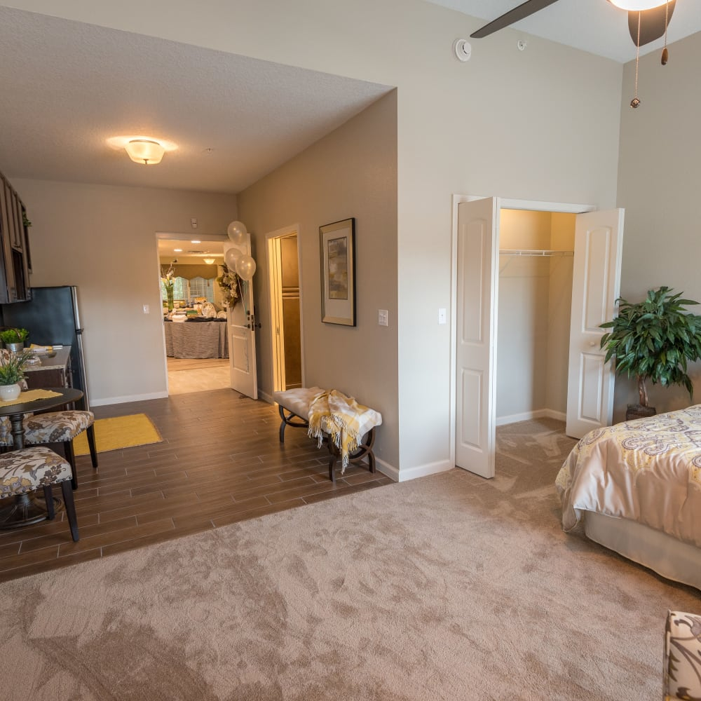 Spacious floor plans at Inspired Living in Kenner, Louisiana