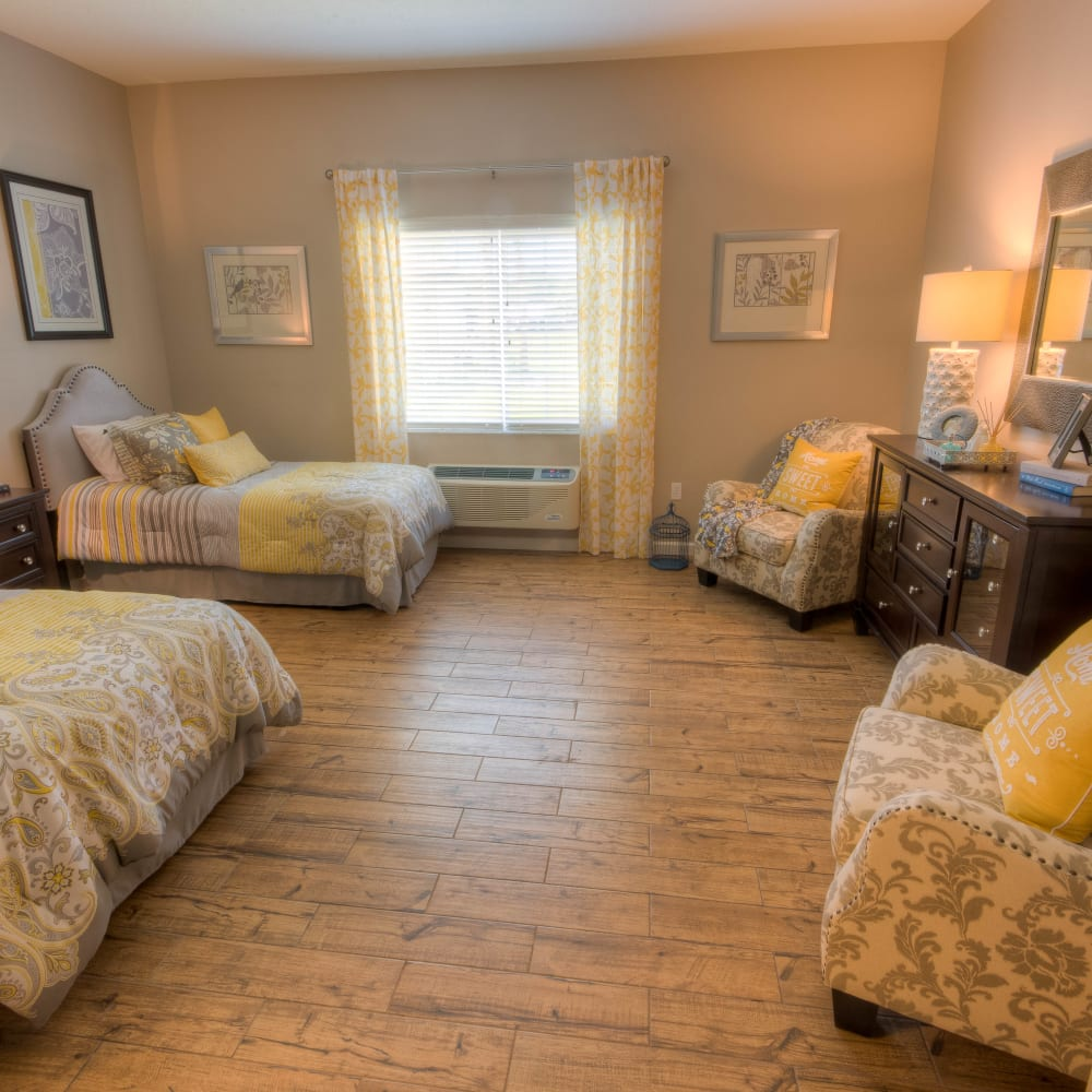 A companion room at Inspired Living in Alpharetta, Georgia.