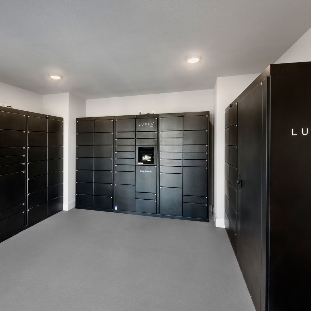 Luxery package locker system at The Elysian in St Johns, Florida