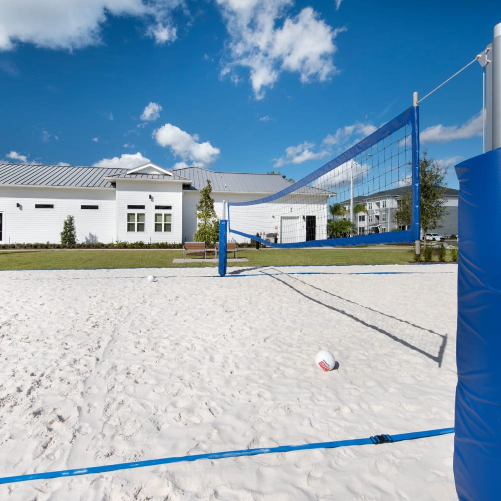 Sand volleyball court at The Elysian in St Johns, Florida