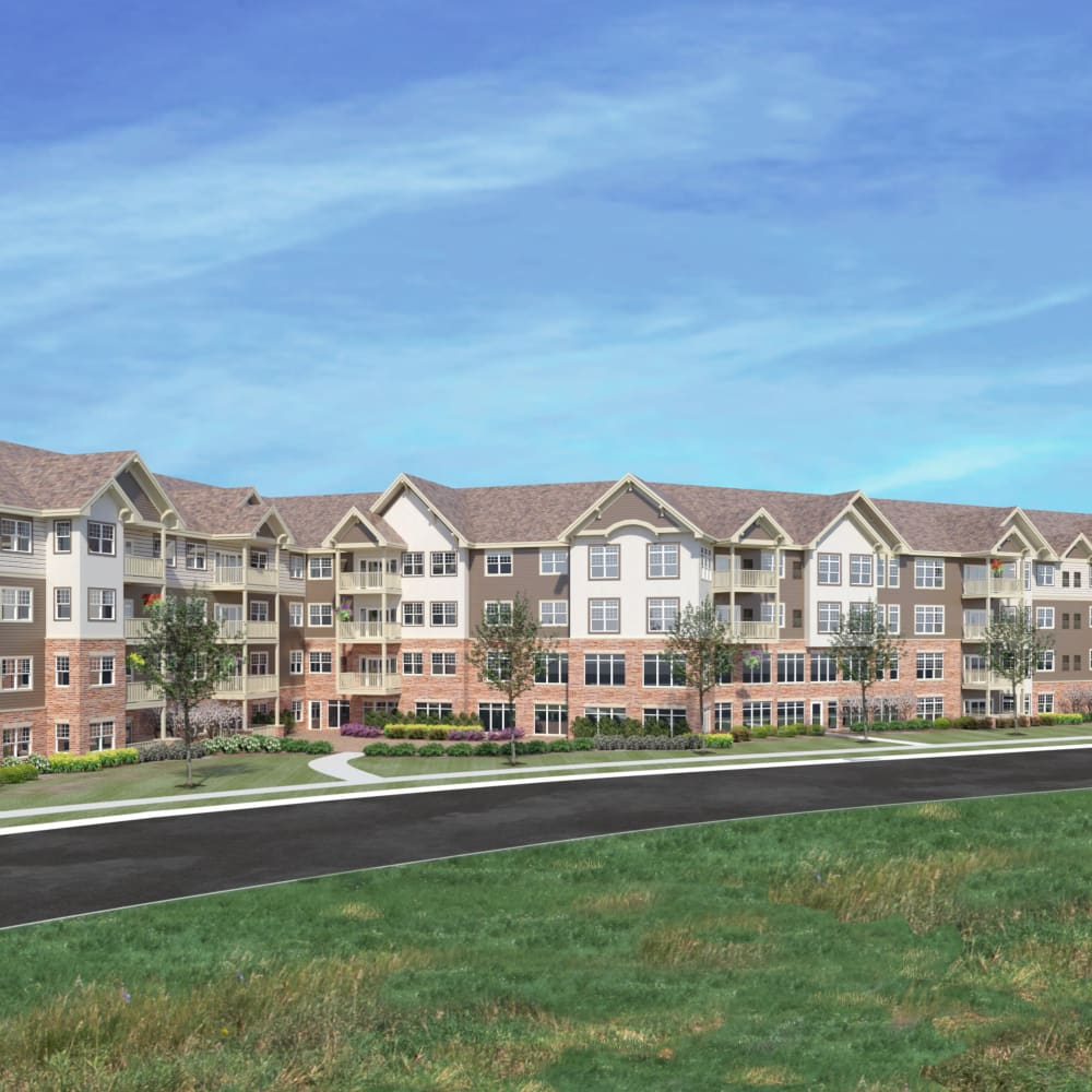 Rendering of Applewood Pointe Maple Grove at Arbor Lakes in Maple Grove, Minnesota.