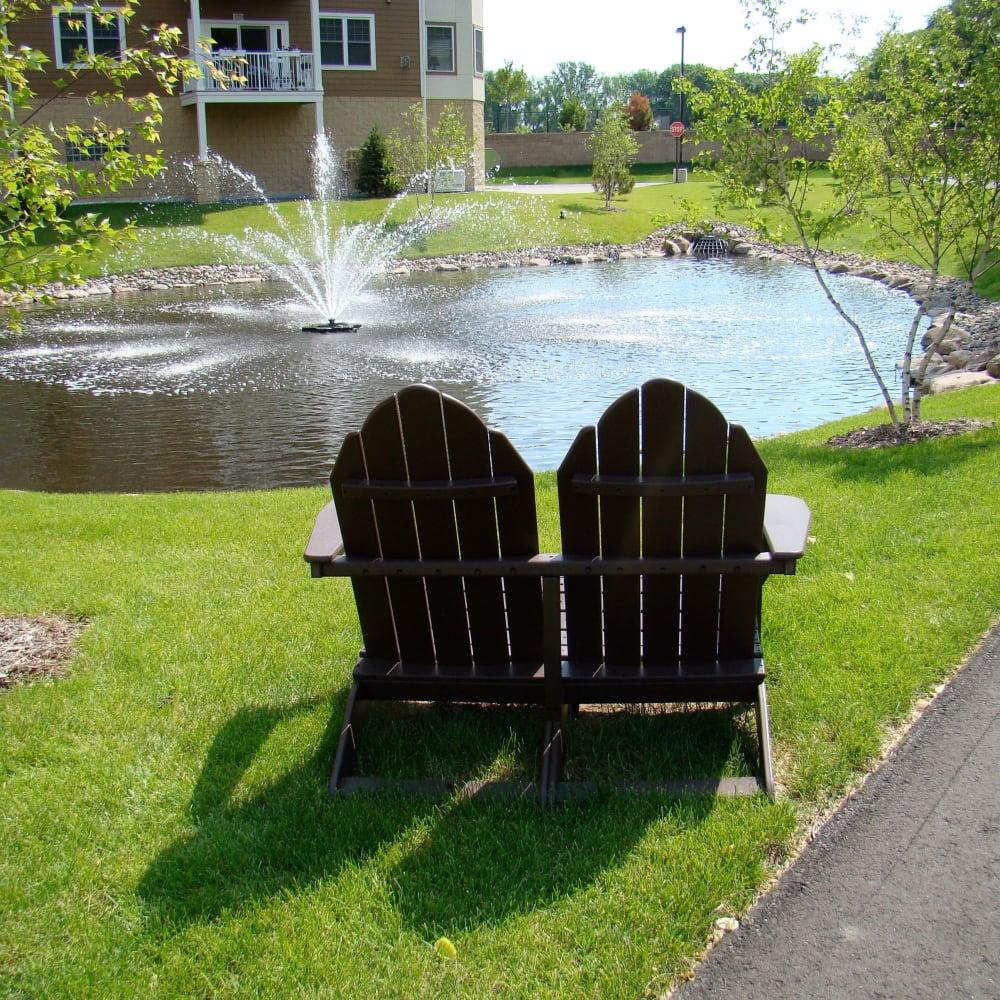 Pond views at Applewood Pointe of Roseville at Langton Lake in Roseville, Minnesota.