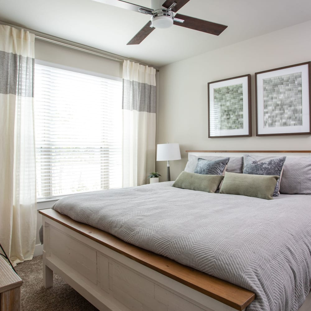 Spacious master bedroom at Opal at Barker Cypress in Houston, Texas