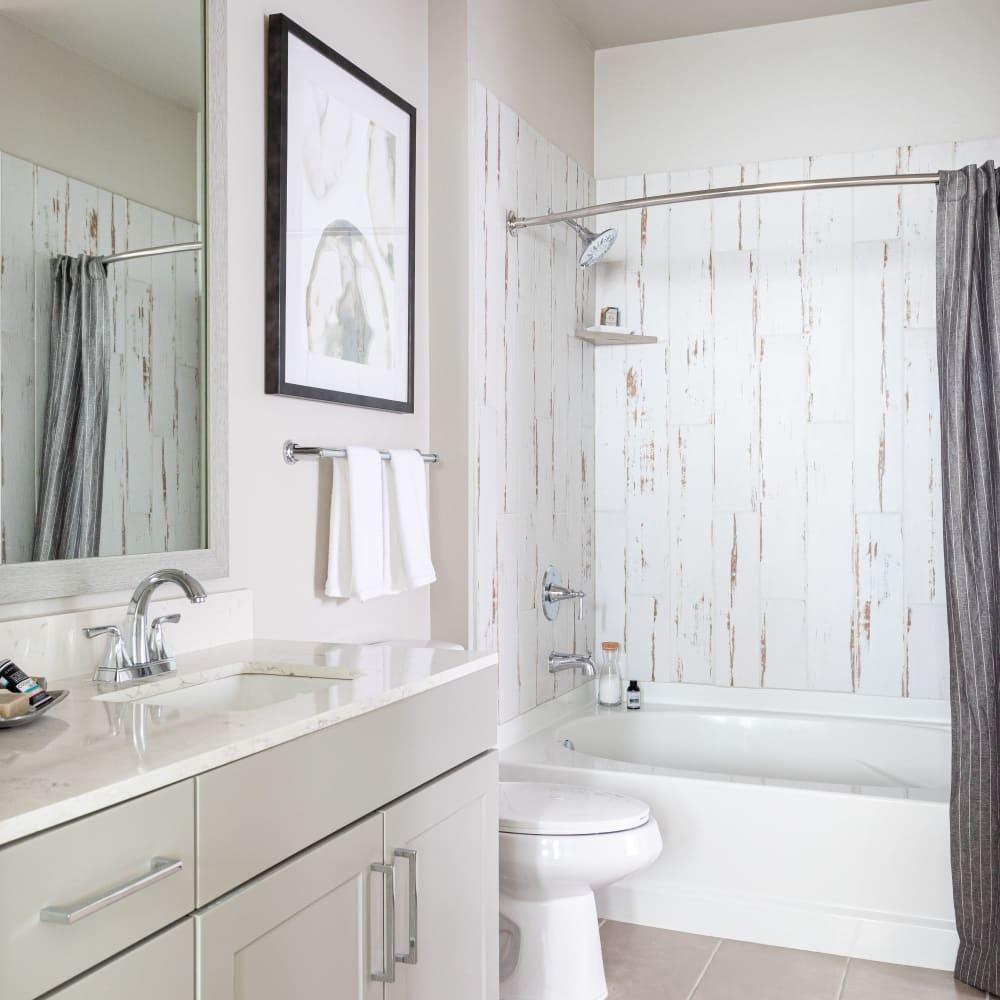 Master bathroom at Opal at Barker Cypress in Houston, Texas