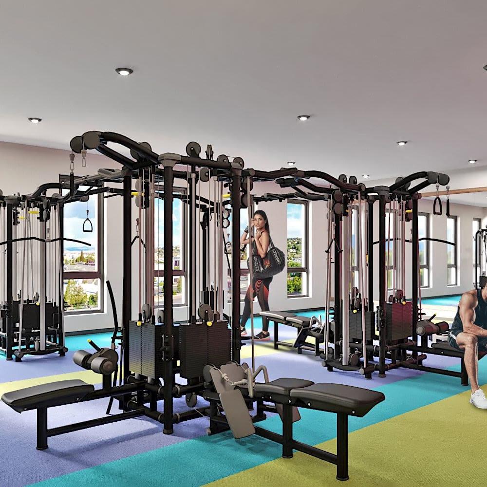 Fitness center at UNCOMMON Reno in Reno, Nevada