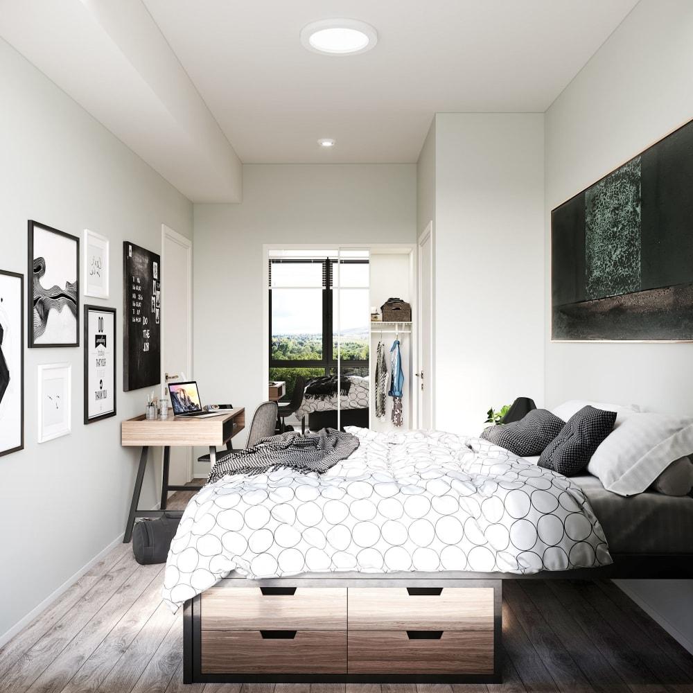 Bright, spacious bedroom at UNCOMMON Reno in Reno, Nevada