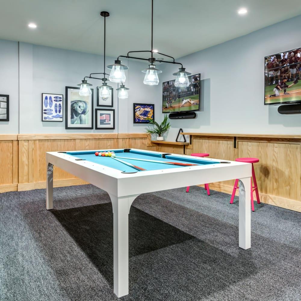Billiards table at LATITUDE at Kent in Kent, Ohio