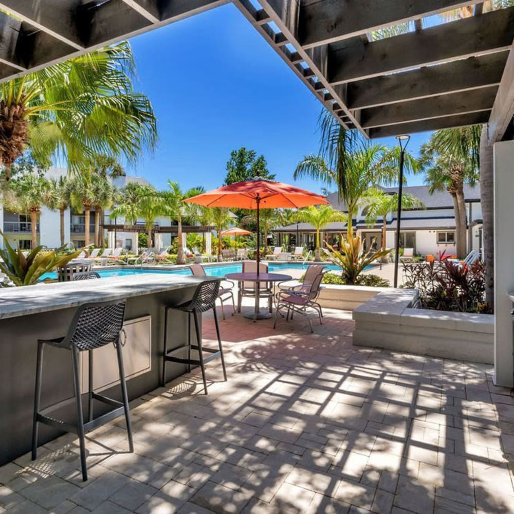 A bar by the pool at The Braxton in Palm Bay, Florida