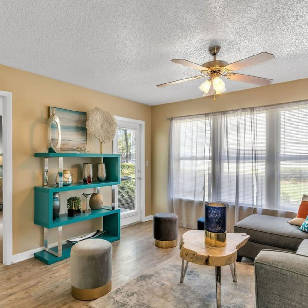 A nice comfy living room at The Braxton in Palm Bay, Florida