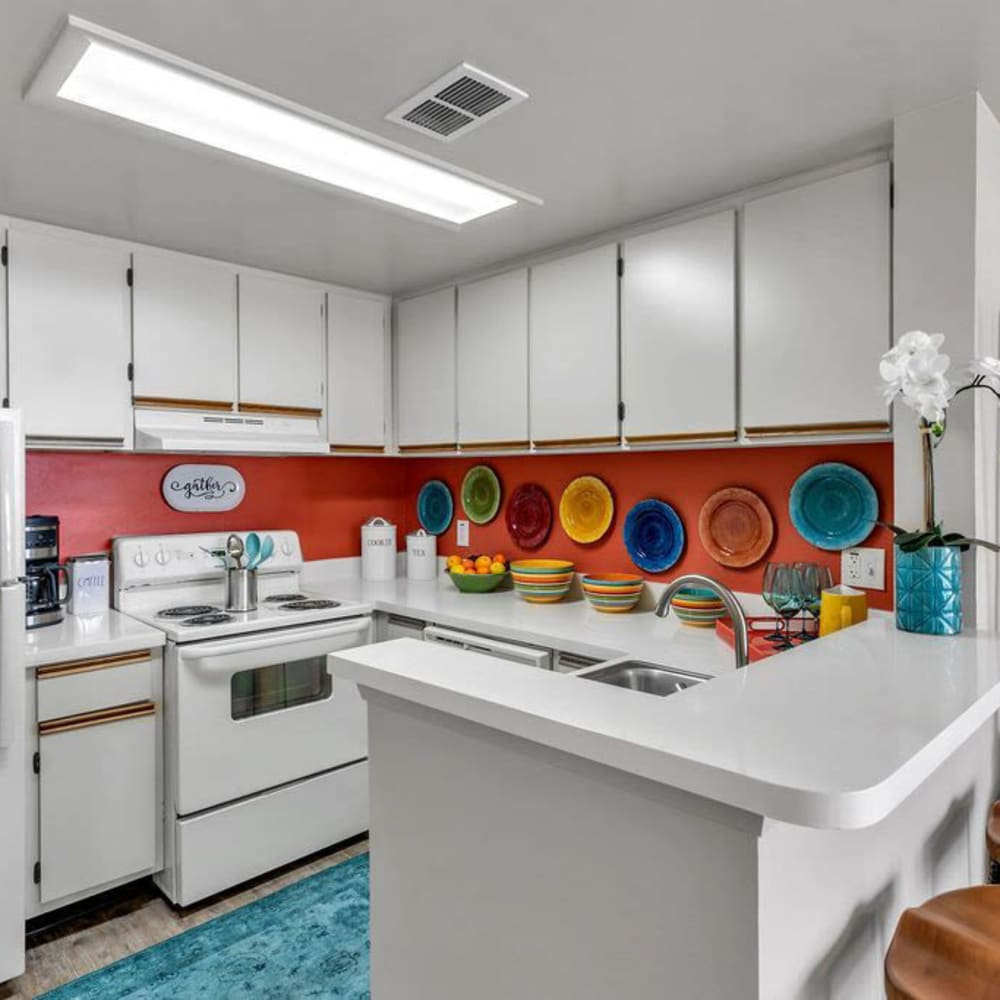 A large apartment kitchen at The Braxton in Palm Bay, Florida
